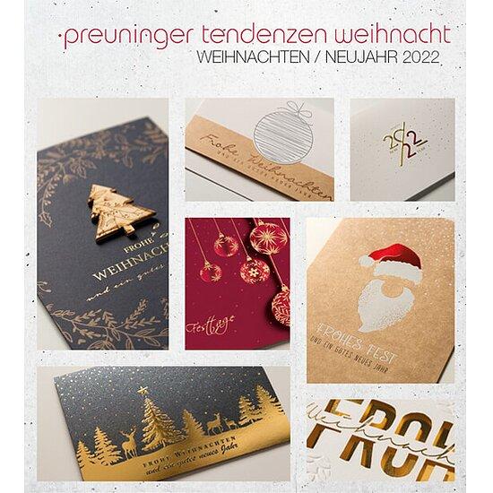 Preuninger Weihnachtskarten Tendenzen Kollektion 2020/21